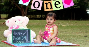 Baby shoot | Happy b'day little Saanvi !