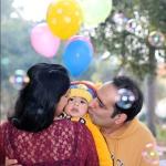 abhi with mom dad