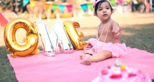 SAANVI | Photoshoot on her first Birthday | Baby shoot Chandigarh
